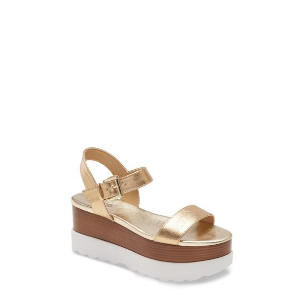 マイケルコース レディース サンダル シューズ Marlon Platform Sandal Pale Gold Leather