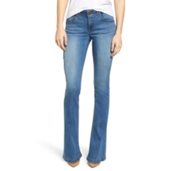 ウィットアンドウィズダム レディース デニムパンツ ボトムス Ab-Solution Itty Bitty Bootcut Jeans Light Blue