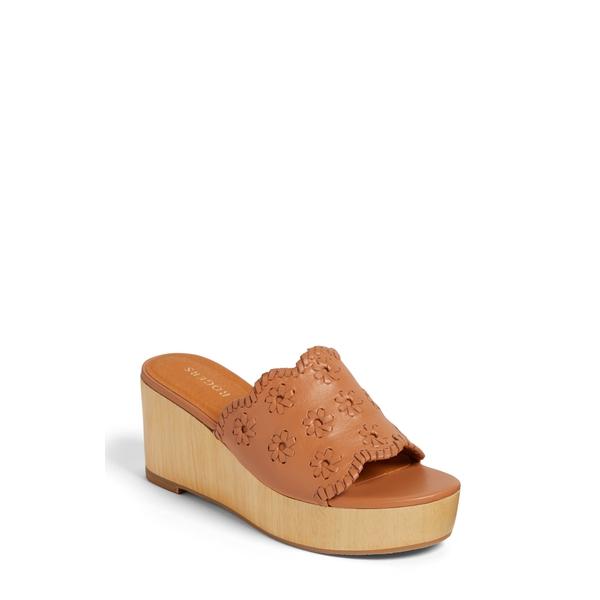 ジャックロジャース レディース サンダル シューズ Rory Wedge Slide Sandal Caramel Leather