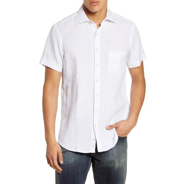 ロッドアンドグン メンズ シャツ トップス Regular Fit Ellerslie Linen Shirt Snow