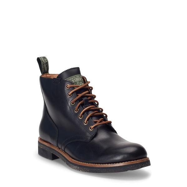 ラルフローレン メンズ ブーツ&レインブーツ シューズ RL Army Boot Black Leather