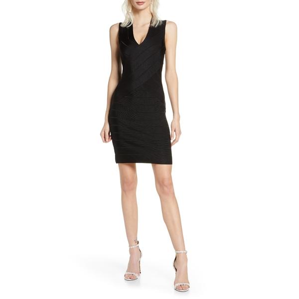 フレンチコネクション レディース ワンピース トップス Zasha Spotlight Body-Con Dress Black