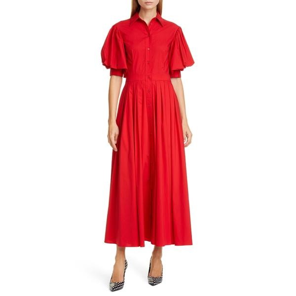マイケル コース レディース ワンピース トップス Puff Sleeve Shirtdress Crimson