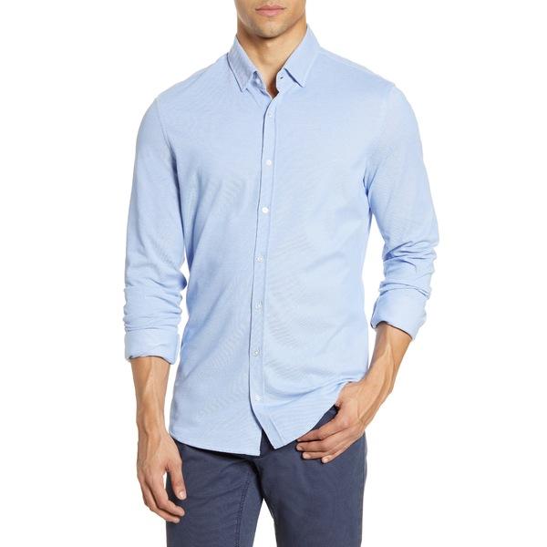 ブラックス メンズ シャツ トップス David Modern Fit Hi Flex Jersey Button-Up Shirt Blue