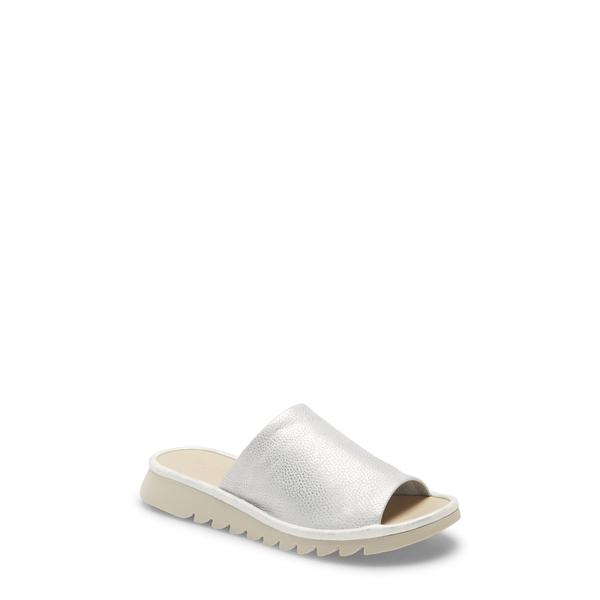 ザフレックス レディース サンダル シューズ Shore Thing Slide Sandal Silver Curtis Leather