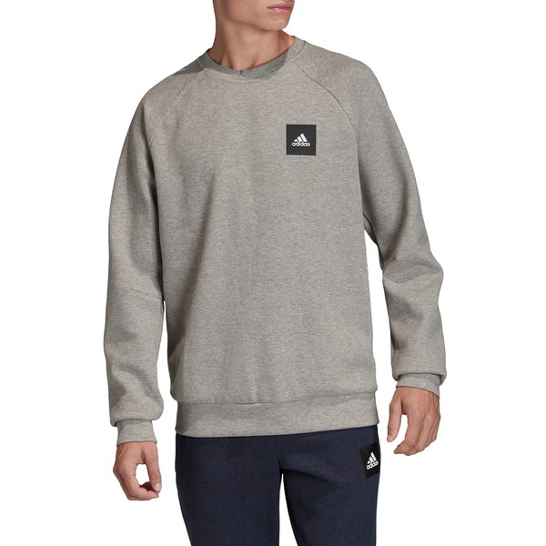 アディダス メンズ シャツ トップス Must Haves Stadium Crewneck Sweatshirt Medium Grey Heather