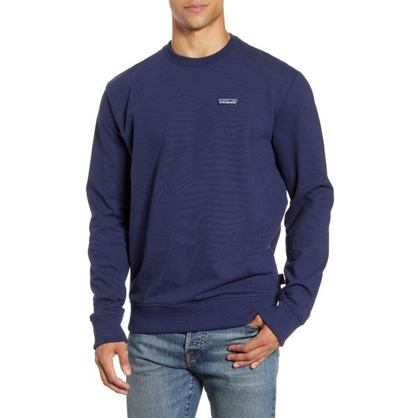 パタゴニア メンズ シャツ トップス P-6 Label Uprisal Crewneck Sweatshirt Classic Navy