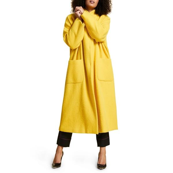 マリナリナルディ レディース ジャケット&ブルゾン アウター Tempiere Alpaca & Wool Coat Yellow