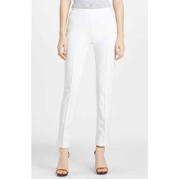 マイケルコース レディース カジュアルパンツ ボトムス Skinny Stretch Cotton Twill Pants Optic White