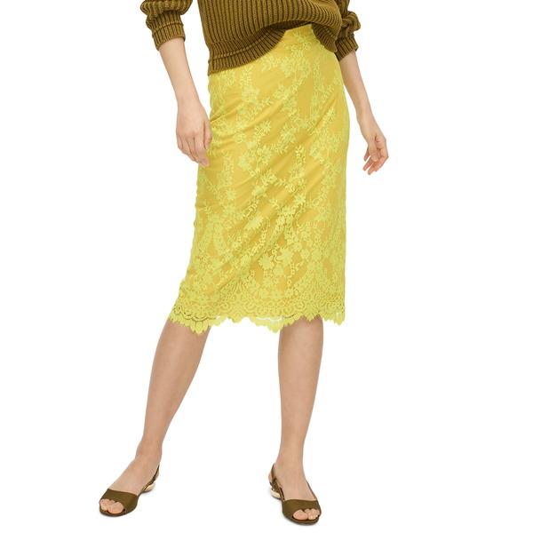 ジェイクルー レディース スカート ボトムス Chantilly Lace Pencil Skirt Bright Kiwi