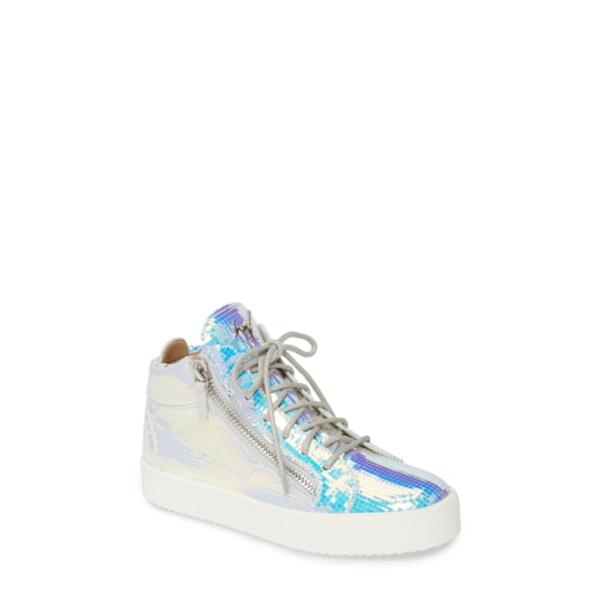 ジュゼッペザノッティ レディース スニーカー シューズ Iridescent High Top Sneaker Ice