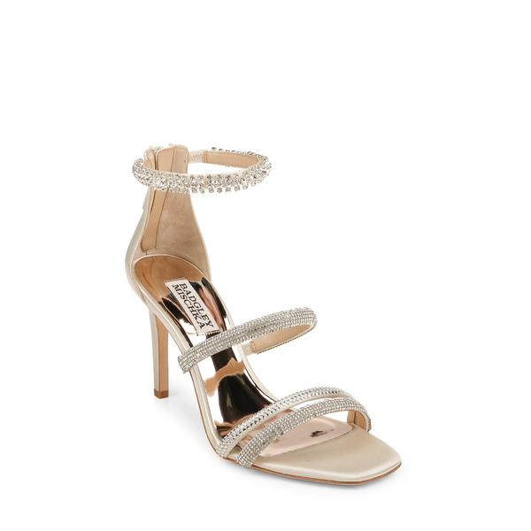 バッドグレイミッシカ レディース サンダル シューズ Badgley Mischka Zulema Embellished Strappy Sandal Ivory Satin