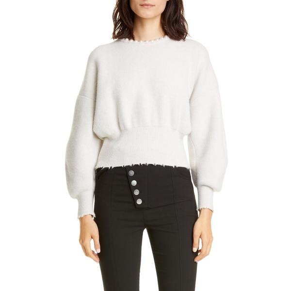 アレキサンダーワン レディース ニット&セーター アウター Imitation Pearl Trim Wool & Cashmere Blend Sweater Ivory