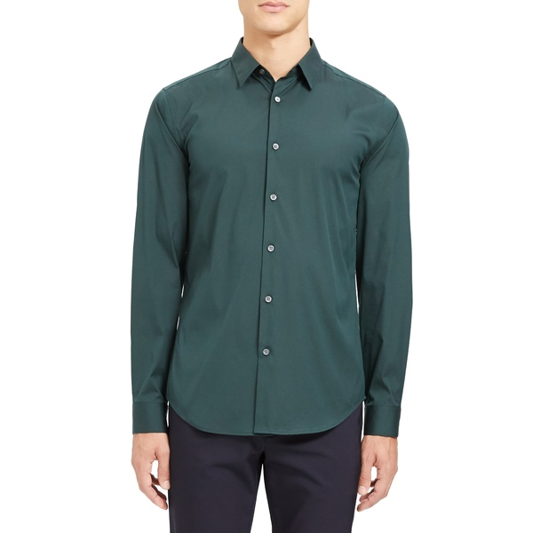 セオリー メンズ シャツ トップス Sylvain Slim Fit Button-Up Dress Shirt Vetiver