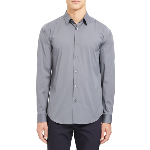 セオリー メンズ シャツ トップス Sylvain Slim Fit Button-Up Dress Shirt Mid Grey