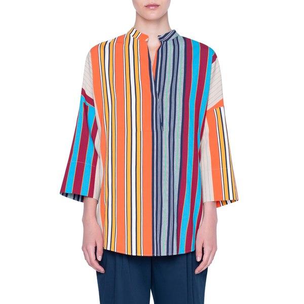 アクリス プント レディース シャツ トップス Parasol Stripe Bell Sleeve Shirt Parasol Stripe Multicolor