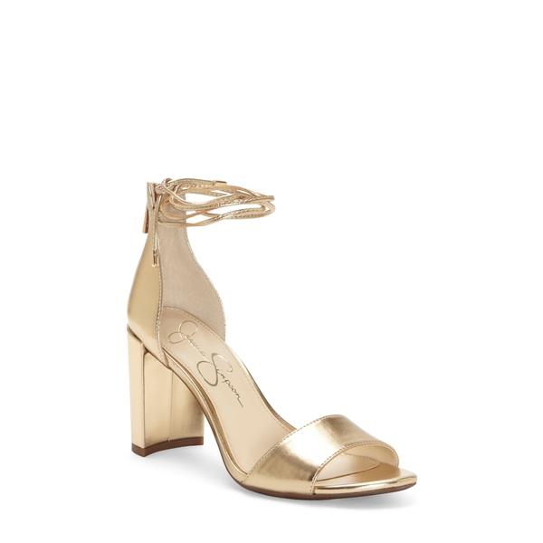 ジェシカシンプソン レディース サンダル シューズ Nehah Ankle Tie Sandal Karat Gold Faux Leather