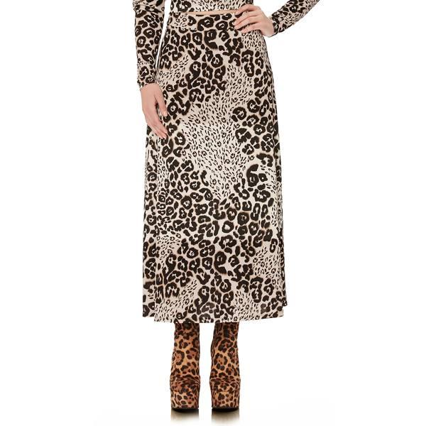 エーエフアールエム レディース スカート ボトムス Sophia Midi Skirt Leopard Patchwork