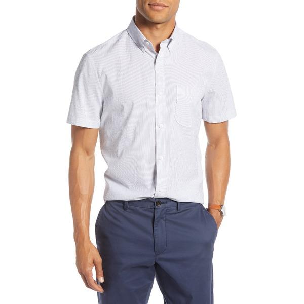 ワンナインオーワン メンズ シャツ トップス Pinstripe Seersucker Slim Fit Sport Shirt Navy Fine Stripe Seersucker