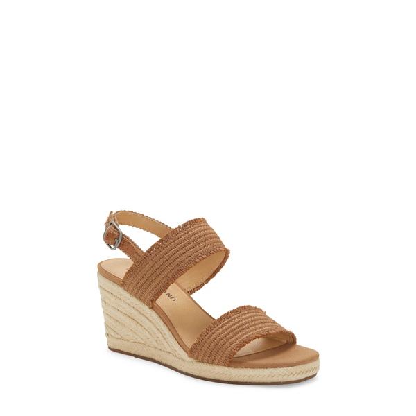 ラッキーブランド レディース サンダル シューズ Minjah Wedge Platform Sandal Latte Woven Leather