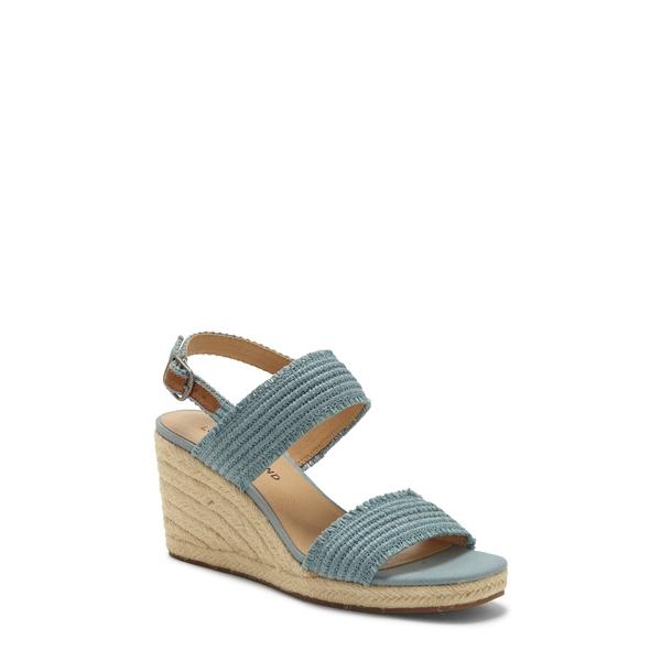 ラッキーブランド レディース サンダル シューズ Minjah Wedge Platform Sandal Lead Woven Leather
