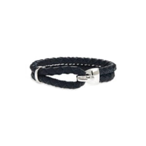 ミアンサイ メンズ ブレスレット・バングル・アンクレット アクセサリー Beacon Braided Leather Bracelet Navy