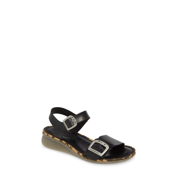 フライロンドン レディース サンダル シューズ Comb Sandal Black Bridle Leather
