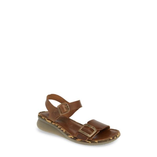 フライロンドン レディース サンダル シューズ Comb Sandal Camel Bridle Leather
