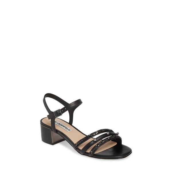 カールラガーフェルド レディース サンダル シューズ Tori Imitation Pearl Sandal Black Nappa Leather