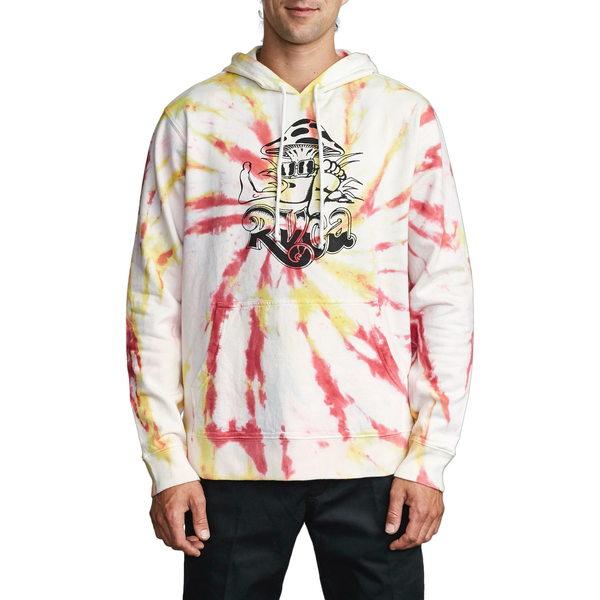 ルーカ メンズ シャツ トップス Scrunch Dye Hooded Sweatshirt Pink