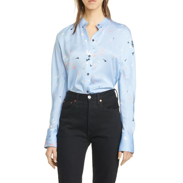 エキプモン レディース シャツ トップス Pavotta Silk Button-Up Shirt Serenity Multi