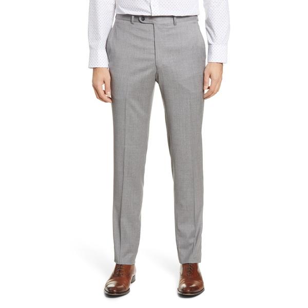 ピーター・ミラー メンズ カジュアルパンツ ボトムス Harker Flat Front Solid Stretch Wool Dress Pants Light Grey