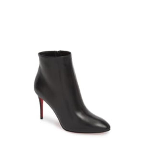クリスチャン・ルブタン レディース ブーツ&レインブーツ シューズ Eloise Pointed Toe Bootie Black Leather
