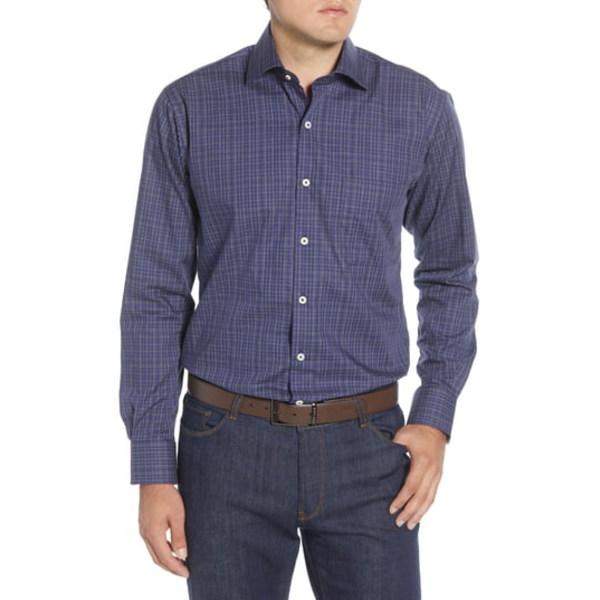 ピーター・ミラー メンズ シャツ トップス Branson Regular Fit Plaid Button-Up Shirt Navy