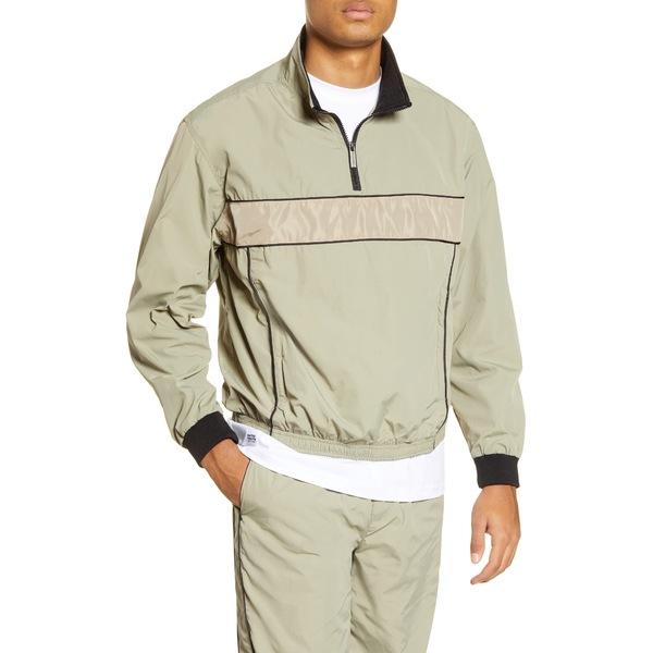 ネイティブユース メンズ ジャケット&ブルゾン アウター Quarter Zip Nylon Pullover Khaki