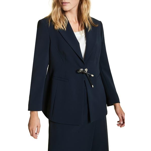 マリナリナルディ レディース ジャケット&ブルゾン アウター Carnet Tie Front Jacket Navy Blue