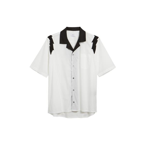 ルード メンズ シャツ トップス Lightning Cotton Shirt White
