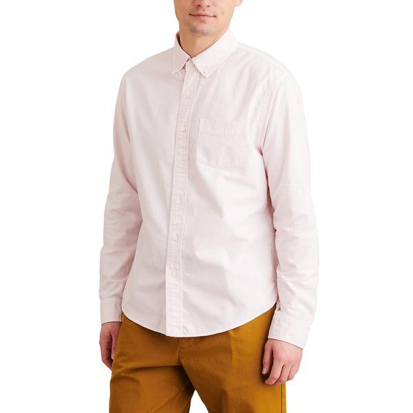 アレックスミル メンズ シャツ トップス Overdyed Oxford Button-Down Shirt Pink