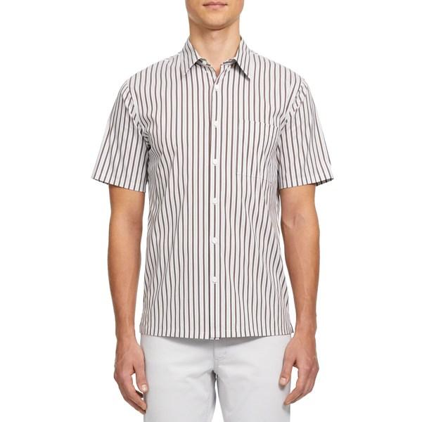 セオリー メンズ シャツ トップス Irving Granada Short Sleeve Button-Up Shirt Copper Multi