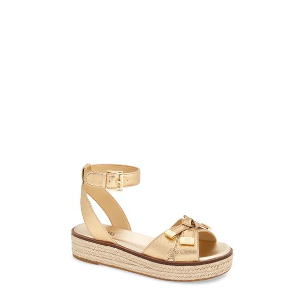 マイケルコース レディース サンダル シューズ Ripley Platform Sandal Pale Gold Leather
