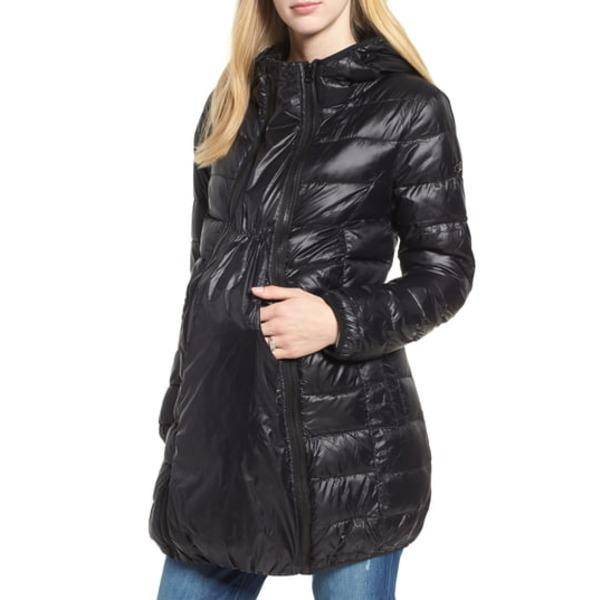 モダーンエターニティ レディース ジャケット&ブルゾン アウター Lightweight Down 3-in-1 Maternity/Nursing Jacket Black