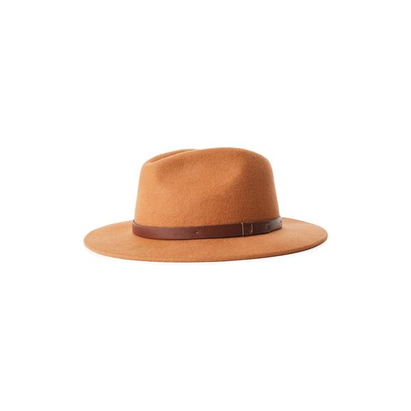 ブリクストン メンズ 帽子 アクセサリー Messer Wool Felt Fedora Hide