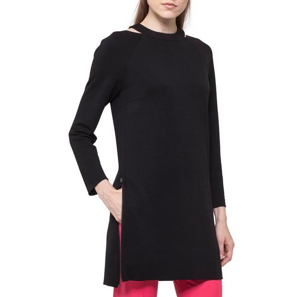 アクリス プント レディース ワンピース トップス Choker Neck Tunic Dress Black