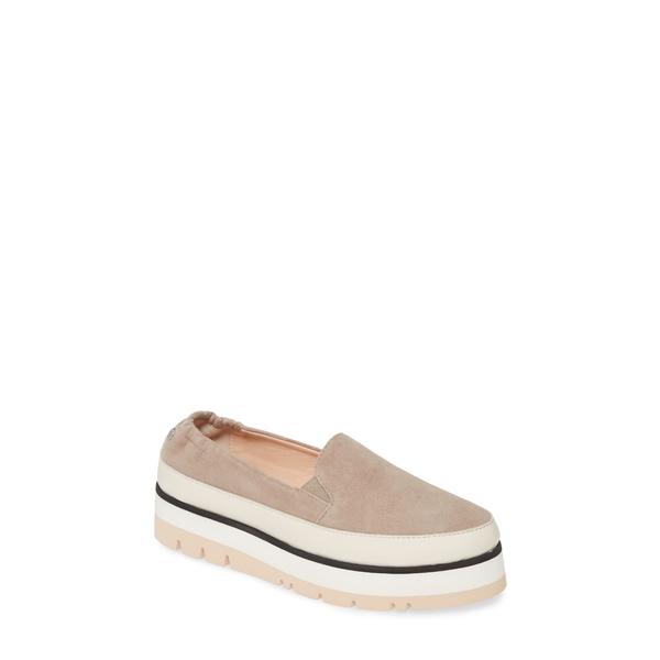 エージーエル レディース スニーカー シューズ Platform Slip-On Sneaker Dusty Taupe Suede