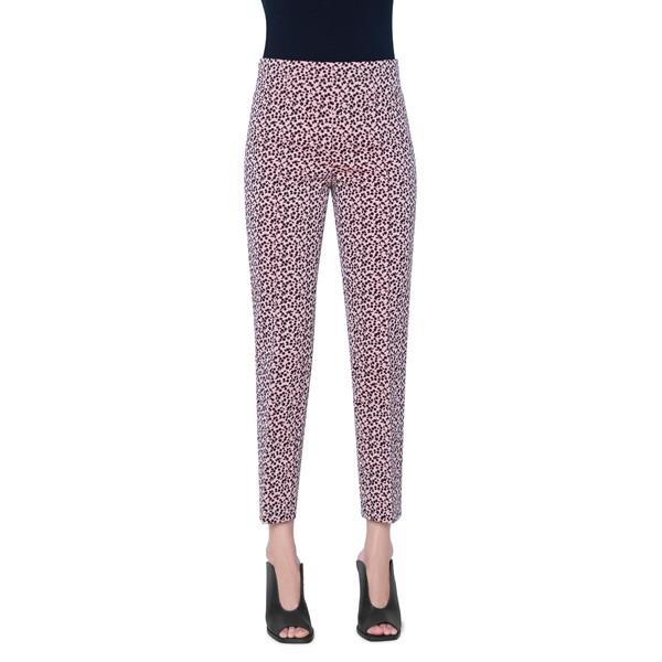 アクリス プント レディース カジュアルパンツ ボトムス Franca Mini Luna Dot Jacquard Ankle Pants Peach Pink/ Black