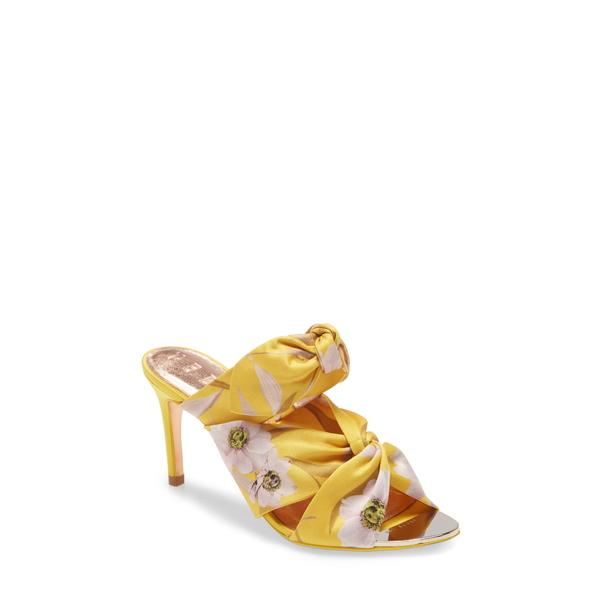 テッドベーカー レディース サンダル シューズ Serana Slide Sandal Yellow Floral Print