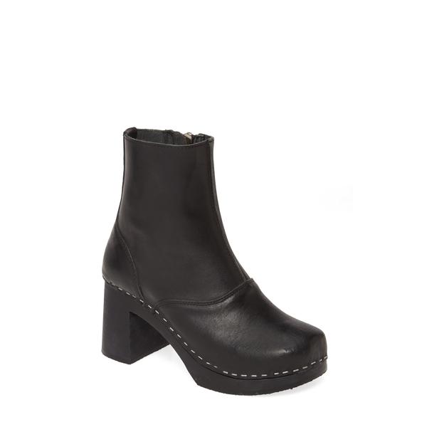 スウェディッシュハズビーンズ レディース ブーツ&レインブーツ シューズ '60s Boot Black Leather