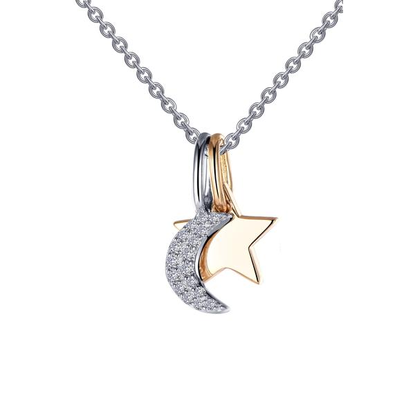 ラフォン レディース ネックレス・チョーカー・ペンダントトップ アクセサリー Star & Moon Pendant Necklace Clear/ Silver/ Gold