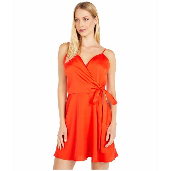 ワイフ レディース ワンピース トップス Amery Faux Wrap Mini Dress Hot Red