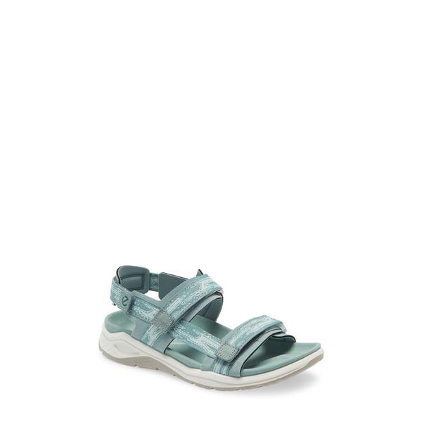 エコー レディース サンダル シューズ X-Trinsic Sandal Trellis/ Eggshell Blue Fabric
